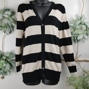 Maurices Striped Button Down Cardigan - M